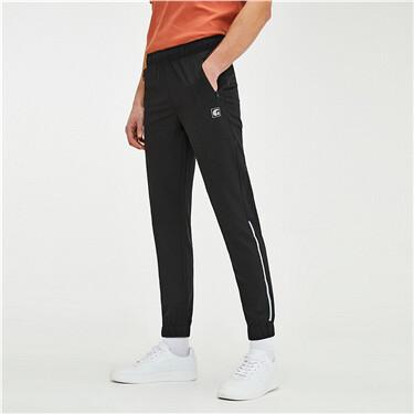 黑科技3M弹力速干薄款拼色束脚裤