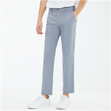 Stretchy slim mid-low rise pants