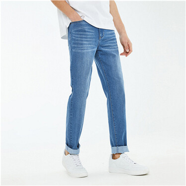 Outcool fabric straight jeans