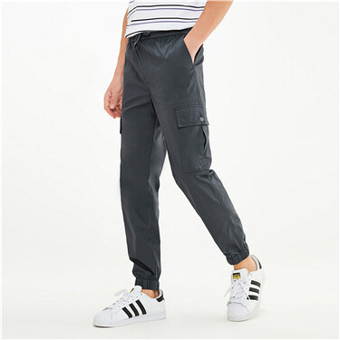 High-tech quick-drying elastic waist joggers