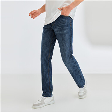 Classic mid rise tapered jeans
