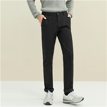 Thick sanded mid-rise stretchy pants