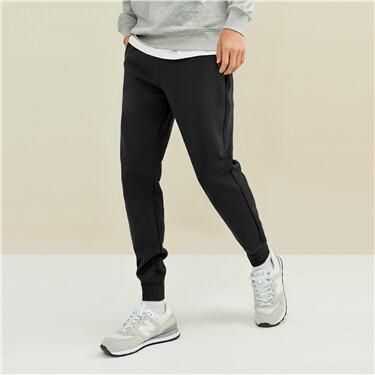 Interlock zippered pockets joggers