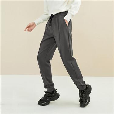Fleece-lined forward seam joggers
