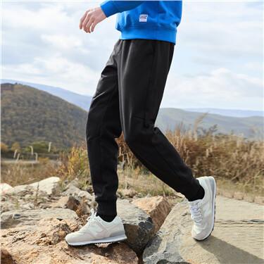Polar fleece elastic waistband joggers