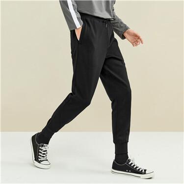 黑科技暖燚绒松紧腰运动束脚裤