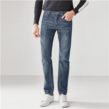 Low rise slim tapered jeans