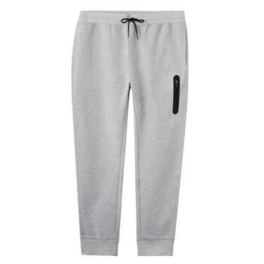Plain slim ribbed joggers