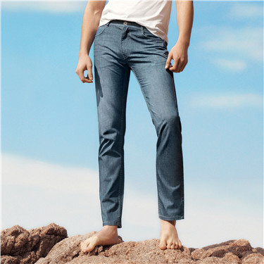 Moustache effect thin jeans