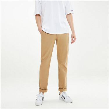 Stretch slim tapered khakis