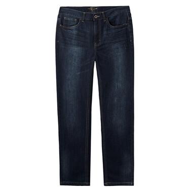 Five-pocket washed denim jeans