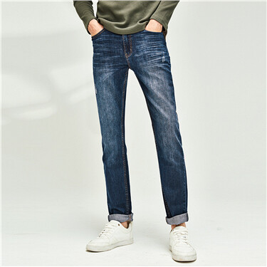 Five-pocket Washed Jeans