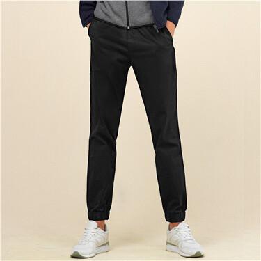 Stretchy slim elastic waistband joggers