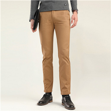 Ultra thick low rise slim tapered khakis