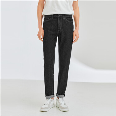 男裝水洗修身窄管牛仔褲