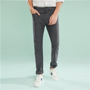 弹力棉纯色摩登窄脚休闲裤