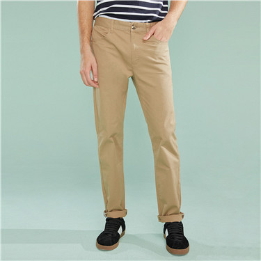 Stretch low rise modern tapered khakis