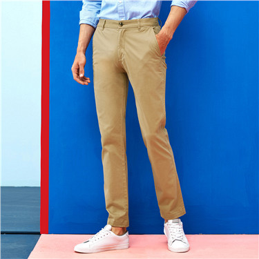 Strecthy low rise slim tapered khakis