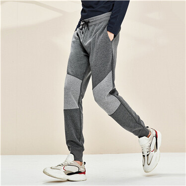 Double-sided air layer stripe joggers