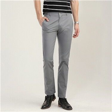 Stretchy low rise slim tapered pants