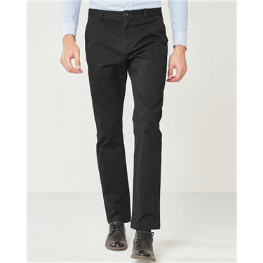 Stretchy Mid Rise Regular Tapered Pants