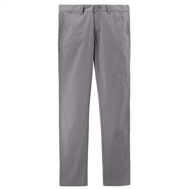 弹力棉纯色中腰休闲长裤