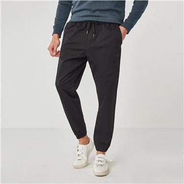 Stretchy elastic-waist jogger pants