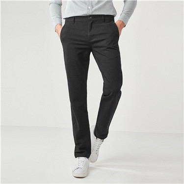 Thick slim cotton casual pants