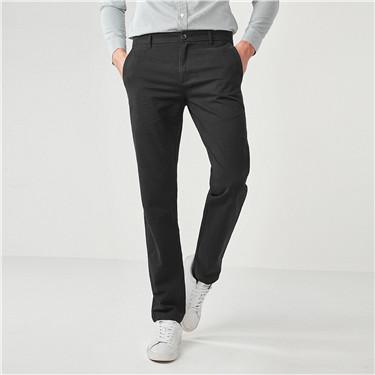 厚实纯棉修身休闲长裤