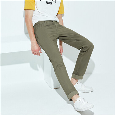 Stretchy solid color pants