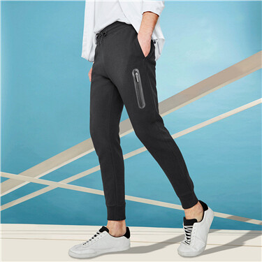 Zip Pocket Slim Jogger Pants