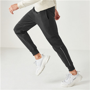 Double knit contrast color joggers