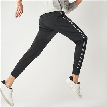 Interlocked contrast color joggers