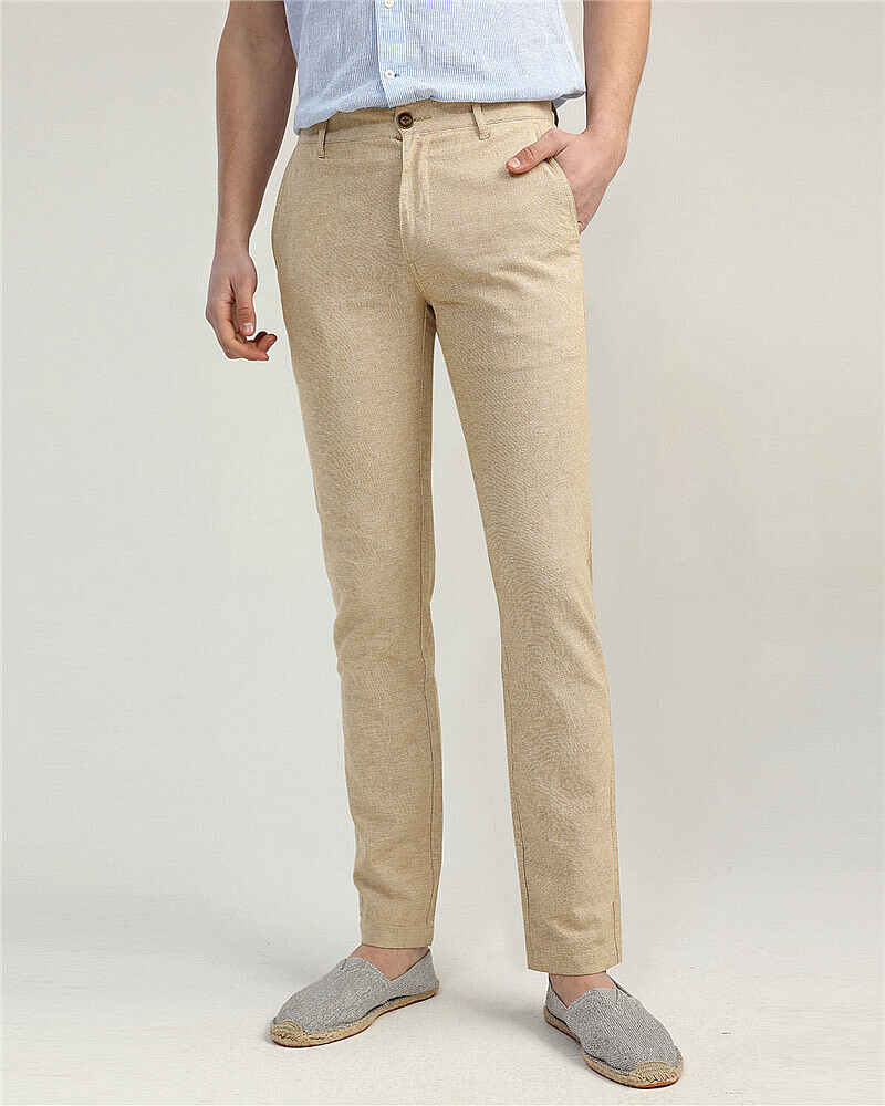 Low Rise Linen Pants Giordano Online Store