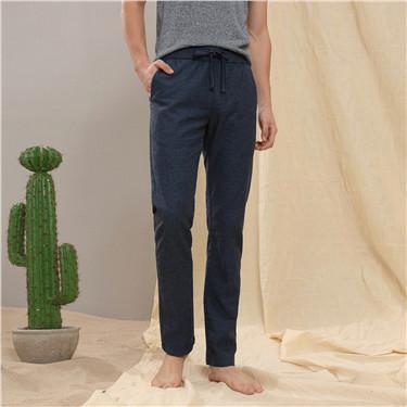 Linen drawstring tapered pants