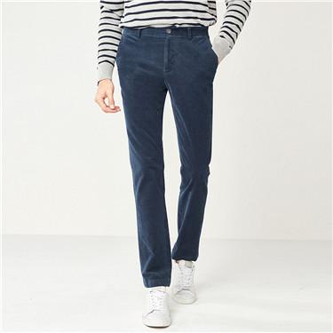 厚实灯芯绒弹力棉休闲长裤
