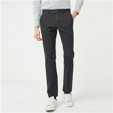 Stretchy mid-low rise casual pants