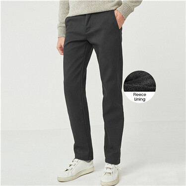 Thick cotton slim casual pants