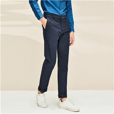 Stretchy plain pants