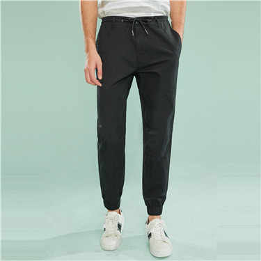 Cotton drawstring jogger pants