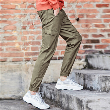 Stretchy cargo jogger pants