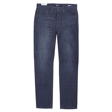 Cotton Denim Low Rise Slim Tapered Jeans