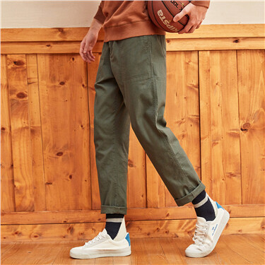 Stretchy casual cargo pants