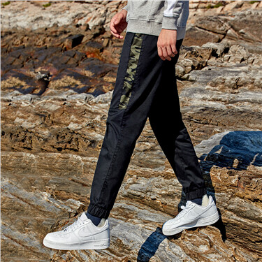 Camouflage pattern stretchy joggers