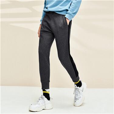 Elastic waist joggers