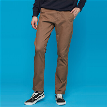 Thick brushed mid rise pants