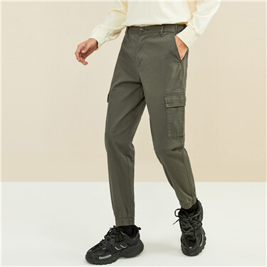 Stretchy multi-pocket cargo joggers