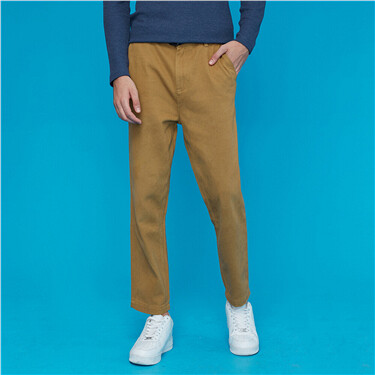 Thick cotton mid rise pants