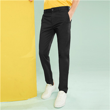 Stretchy mid-low rise thin casual pants