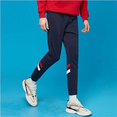 Interlock contrast joggers